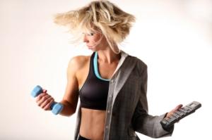 Busy-gym-woman